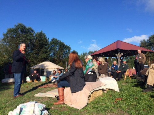 Joel Salatin speaks at Persephone Farm