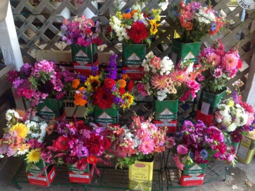 CSA subscriber bouquets at Persephone Farm in Indianola , WA