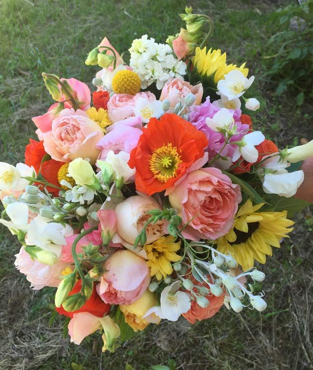 Persephone Farm Kitsap County wedding bouquet