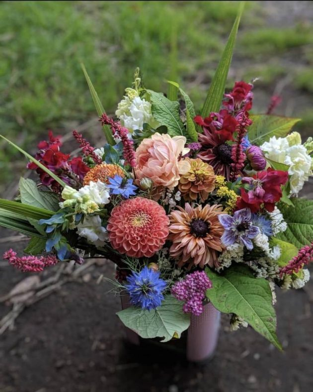 Beautiful  Persephone Farm bouquet