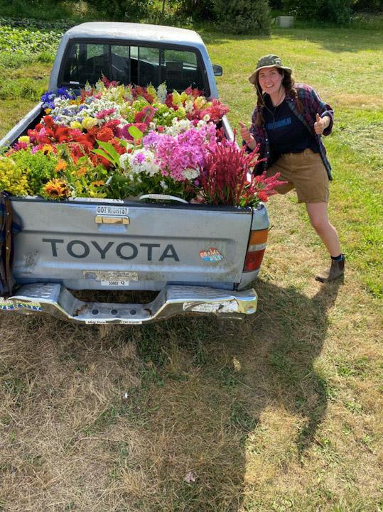 Flower truck at Persephone Farm